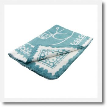 Organic Cotton Bear Baby Blanket Turquoise by Fabulous Goose