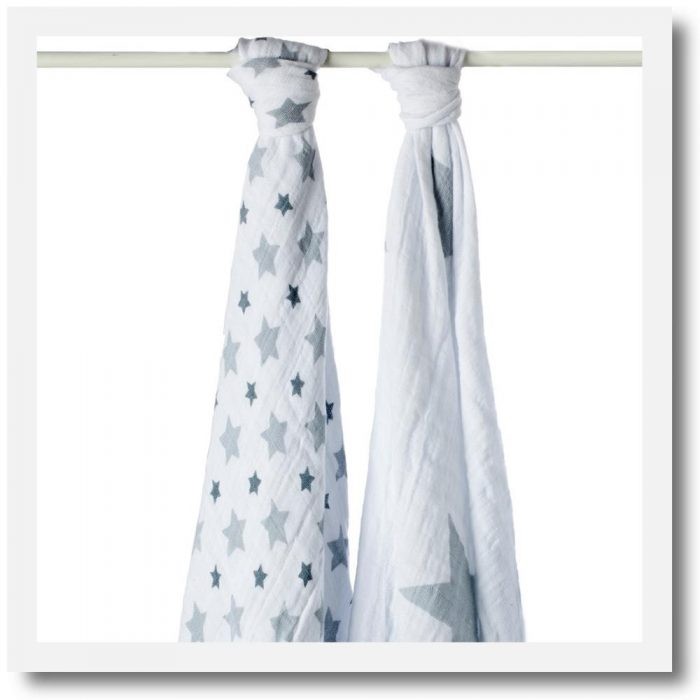 Aden & Anais, Classic Swaddle, Twinkle - Set Of 2