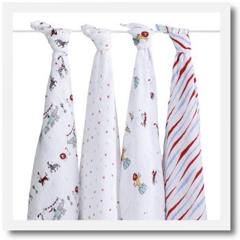 Aden & Anais, Classic Swaddle, Vintage Circus - Set Of 4