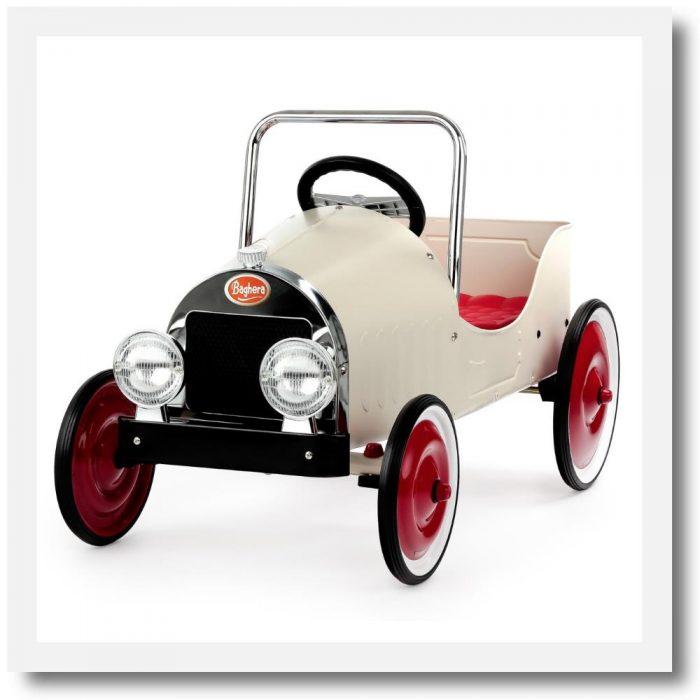 Baghera Classic White Pedal Car