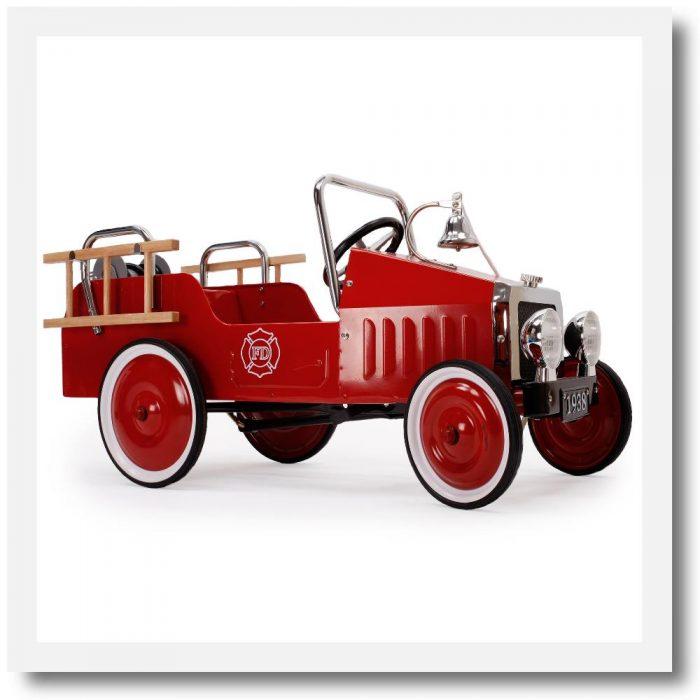 Baghera Fire Truck Pedal Car
