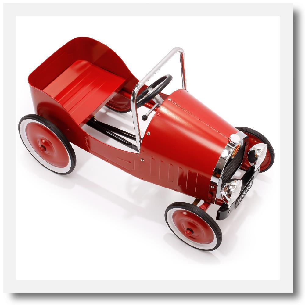 Baghera Classic Red Pedal Car Vintage Race Car Design