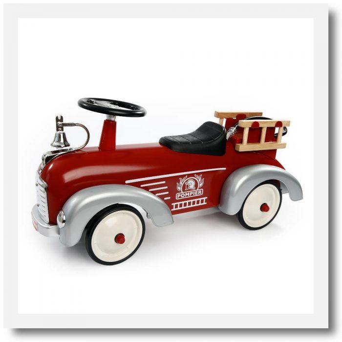 Baghera Speedster Pompier Fire Engine Ride On. Left side view.