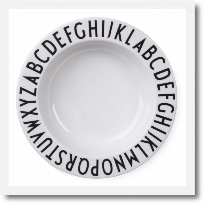 Design Letters Alphabet Melamine Deep Plate