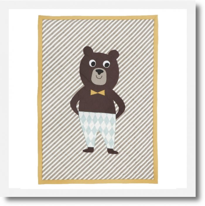 Bear Quilt Baby Blanket by Ferm Living