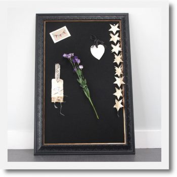 children's pinboard black