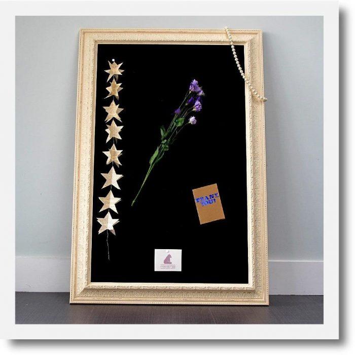 Children's Pinboard Ivory Black