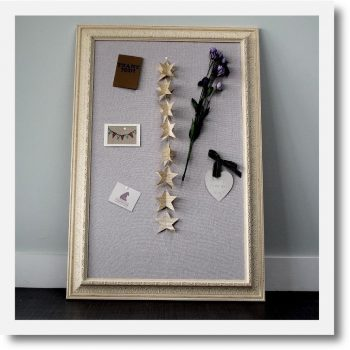 Children's Pinboard Ivory Grey