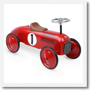 Vilac red ride on classic car