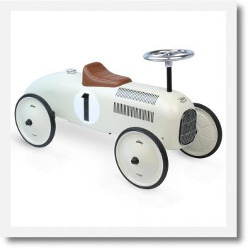 Vilac Metal Ride On Car, White