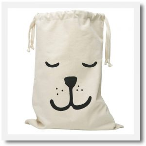 sleepy bear fabric bag