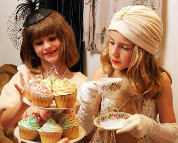 afternoon tea with kids