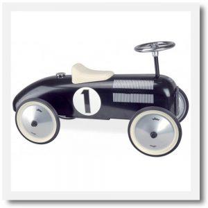 vilac black ride on classic car