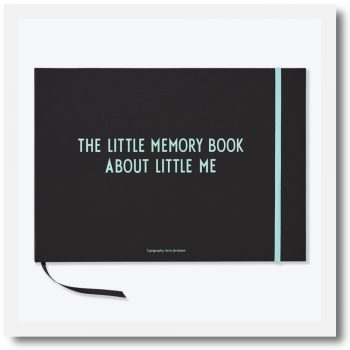 design letters memory book in turquoise