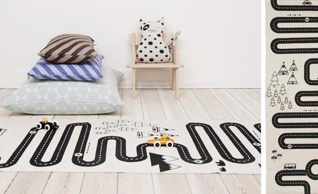OYOY Adventure rug on wooden floor