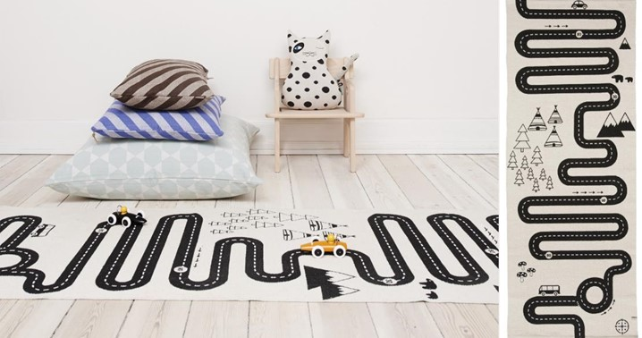 OYOY Adventure rug on wooden floor